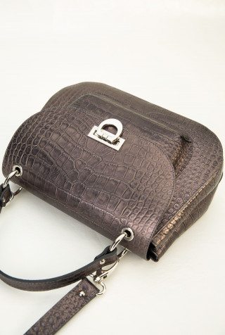 Flap bag with top handle