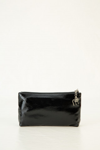 Black leather cosmetic case