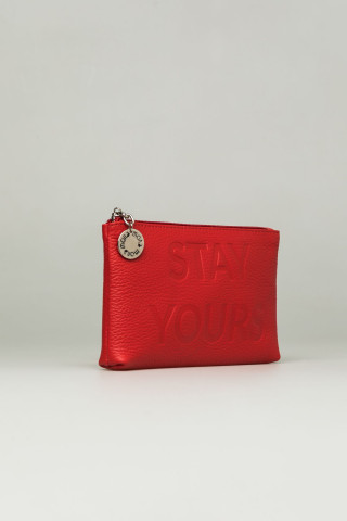 STAY YOURS RED COSMETIC CASE
