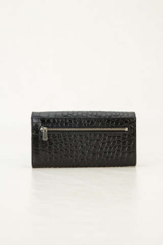 Wallet with croc effect