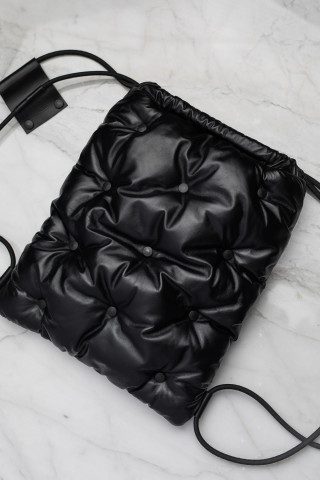 Limited edition black leather backpack